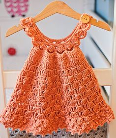 strickende Babykleidung Crochet dress PATTERN - Bell Dress (sizes up to 6 years) Crochet Dress Girl, Baby Girl Crochet, Crochet Baby Clothes, Crochet For Kids, Crochet Dresses, Crochet Toddler Dress, Crochet Jacket, Crochet Daisy, Robes Tutu
