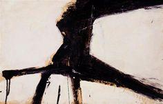 Franz Kline - Untitled (1957) Oil on board