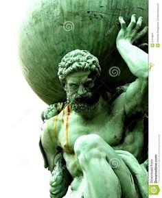 Statue of Atlas. Photograph of a statue of Atlas holding globe , Atlas Sculpture, Roman Sculpture, Greek Mythology Tattoos, Greek Mythology Art, Greece Mythology, Greek God Tattoo, Atlas Tattoo, Globe Tattoos, Tatto Love
