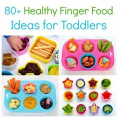More than 80 easy and healthy finger food ideas for toddlers plus simple muffin tin meal ideas that kids will love - Eats Amazing UK Healthy Finger Foods, Healthy Toddler Snacks, Toddler Lunches, Healthy Snacks For Kids, Toddler Food, Kid Snacks, Kid Lunches, Preschool Snacks, Dinners For Kids