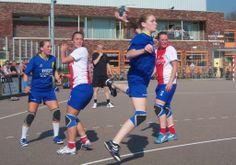 Handbalster in actie
