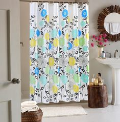Wimaha Latest Floral Fabric Shower Curtain Mildew Resistant Standard Waterproof Bath Tub Water Repellent