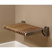 Teak Folding Shower Seat - A folding seat in the shower will be an appropriate accessory for all those homes that have elderly or people with reduced mobility. It is not only done for convenience, also for security reasons Folding Furniture, Diy Furniture, Furniture Design, Garden Furniture, Wood Shower Bench, Shower Seat, Shower Benches, Shower Chair, Bathroom Bench