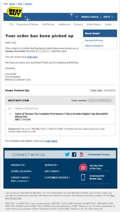 Order confirmation email from Zappos | Order confirmation ...