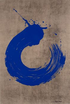 Blue Circle by Fabienne Verdier, Serigraphy, printed in 8 colours, 111 x 76 cm, 2006.