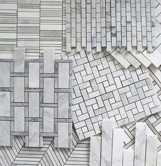 Favorite Affordable & Classic Backsplash Tile Options -Room for Tuesday Marble Mosaic, Mosaic Tiles, Backsplash Tile, Wall Tile, Floor Patterns, Mosaic Patterns, Floor Design, Tile Design, Coloured Grout