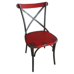 Found it at Wayfair - Bali Side Chair in Red