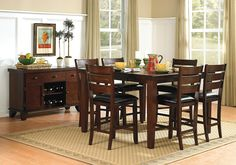 Lacks | Ameillia 7-Pc Counter-Height Dining Set