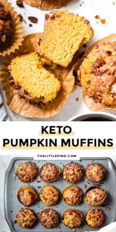 *NEW* Pillowy, sweet and just the right amount of crumble, this low carb pumpkin muffin recipe is ready to make your low carb thanksgiving totally unforgettable.#lowcarbpumpkinmuffins #ketopumpkinmuffins #pumpkinmuffins #keto #lowcarb Sugar Free Desserts, Low Carb Desserts, Pumpkin Pie Mix, Pumpkin Muffin Recipes, Low Carb Flour, Low Carb Ice Cream, Healthy Pumpkin, Low Carb Breakfast, Sugar Free Deserts