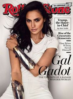 Logoless version of Gal Gadot on the cover of Rolling Stone photographed by Peggy Sirota. I wonder if that is what she looks like in real life Gal Gardot, Gal Gadot Wonder Woman, Woman Crush, Most Beautiful Women, Rolling Stones, Beautiful Actresses, Role Models, Movie Stars, Celebs
