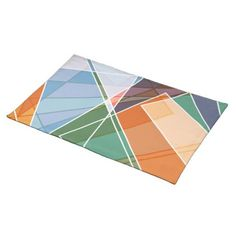 Victorian blue floral pattern napkin retro abstract geometric colorful cute polygonal placemat negle Choice Image