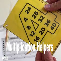 Number Multiple cards for helping teach multiplication facts and skip counting Learning Multiplication Facts, Math Facts, Teaching Math, Multiplication Chart, Multiplication Flash Cards, Teaching Learning Material, Help Teaching, Kids Learning Activities, Skip Counting Activities