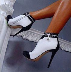 Shoespie Chic Color Block Stiletto Heel Ankle Boots