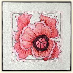 Marianne Burr: Hand Stitched Art - Portfolio 2  Poppy