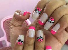 What I'm going to attempt today! But with different colours, and then when I'll fail, I'm just gonna do galaxy nails again