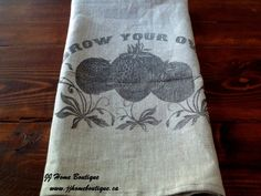 Linen Country Kitchen Tea Towel with by JJHomeBoutique Sweater Refashion, Country Sweatshirts, Shirts For Teens, Grow Your Own, Country Kitchen, Tea Towels, Strawberry Tea, Antiques, Trending Outfits