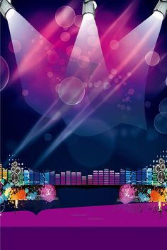 Academy Fantasia New Years Party Poster Background Material