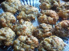I made these Breakfast Biscuits (comes from the Jiffy mix recipe book.)  All of my family loved them!  So much so that they wanted me to make another batch!  Modifications: I didn't cook the sausage before hand, rather I mixed it in like the recipe called for and substituted a Mexican blend of cheese instead of cheddar.  YUMMY!  I'm taking these on our next camping trip.