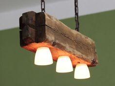 h ngelampe deckenlampe lampe rustikal holz holzbalken led vintage shabby holz lampen. Black Bedroom Furniture Sets. Home Design Ideas