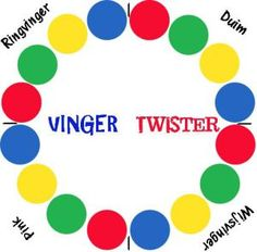 Finger Twister Christmas 2015 made for all 3 kids and families Twister Game, School Ot, Middle School, Occupational Therapy, Speech Therapy, Play Therapy, Finger Gym, Busy Boxes, Board Games