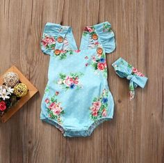 Cute floral baby girls rompers & headband set. It is made of high quality cotton. It is perfect for summer season. Too CUTE and also Comfortable.  Perfect baby shower gift. Suitable for baby girls up to 18 months old. Baby Girl Romper, Cute Baby Girl, Baby Bodysuit, Baby Girls, Girls Bows, Baby Boy, Baby Outfits Newborn, Baby Girl Newborn, Mono Floral