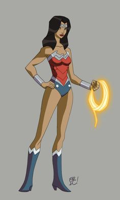 Animated New 52 Justice League Design by Eric Guzman - Wonder Woman