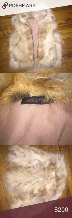 Coyote fur vest 100% Coyote fur vest leather trim zipper Jackets & Coats Vests