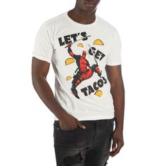 df4bfd58b22765 Deadpool Let s Get Tacos Men s White T-Shirt