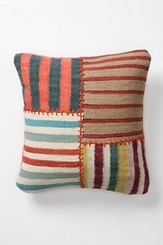 do something similar with that bag of upholstery fabric samples.Could do something similar with that bag of upholstery fabric samples. Contemporary Pillows, Patchwork Pillow, Quilted Pillow, Knitted Throws, Fabric Samples, Fabric Swatches, Fabric Art, Fabric Scraps, Pulls