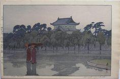 """Hiroshi Yoshida """"Edo Castle"""""""