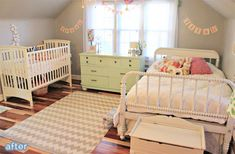Little girl's bedroom/nursery makeover