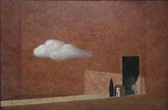Matthias Brandes, Interno, 2013, olio e tempera su tela, 80 x 120 cm #contemporary #art #painting