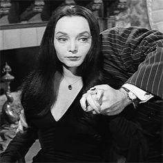 """ Gomez and Morticia Addams "" The Addams Family Cast, Adams Family, Gomez And Morticia, Morticia Addams, Charles Addams, Tim Burton Style, Carolyn Jones, Anjelica Huston, Family Research"