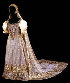 Gown: ca. 1875-1900, Hungarian.
