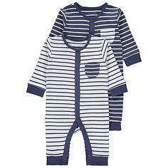 2 Pack Striped Romper | Baby | George at ASDA