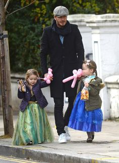 David Beckham with daughter Harper-so sexy