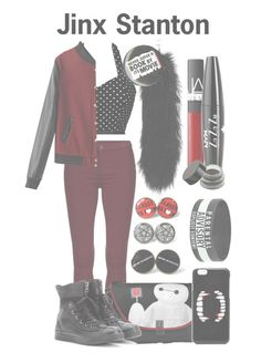 """""""Jinx Stanton"""" by nationalnerd ❤ liked on Polyvore featuring Converse, ASOS, NARS Cosmetics and NYX"""
