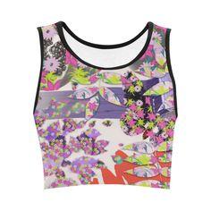 Tropical Violet Convo Crop Top #stellasaksa #tropicalviolet #convo #croptop #spring #fashion #art