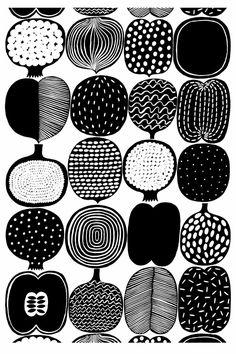 Marimekko Vatruska fabric - pattern by Aino-Maija Metsola