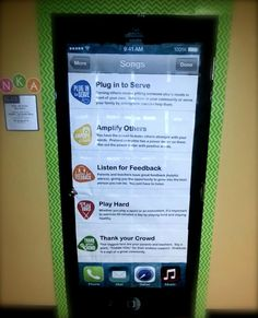 This iPhone playlist door decoration at Indian Rock Christian School in Largo FL will & 610f9d0eb26138357e493c3465acf0ff.jpg (720×960) | Classroom Ideas ...