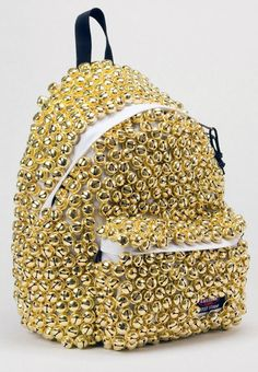 Covering your backpack in bells.