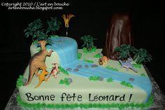 volcan gateau | Gateau Dinosaure Cake Ideas and Designs