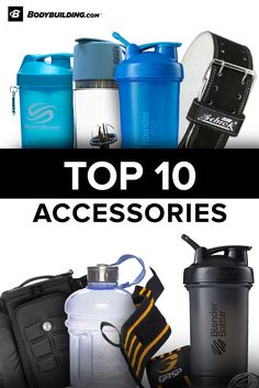 Accessories like lifting gloves, belts, and wraps protect your body from the wear and tear of high-intensity exercise. Use measurement tools, workout journals, shakers, and gym bags maximize your fitness lifestyle.