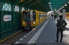 Maerz 2014-BVG 1016 als U2 nach Pankow,Bf.Eberswalder Strasse S Bahn, Public Transport, Trains, Transportation, Germany, Street View, Flower, Ideas, Train