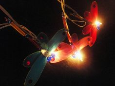 20 Dragonfly Art Multi Colour Fairy Lights String by marwincraft, $15.97