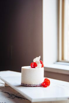 Raspberry and Vanilla Bean Mousse Cake | Hint of Vanilla