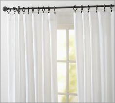 Cameron Cotton Pole Pocket Drape | Pottery Barn, 50x108 $50