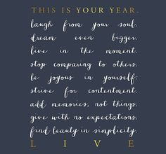 Make this your year :) File this with 'Imi ola ~ craft your best possible life