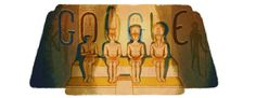 The Great Temple of Abu Simbel in Egypt was commemorated as the Google Doodle for the 22nd of October 2012.