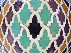 Tiled Mosaic Inside Bou Inania Medersa, Fez, Morocco, North Africa, Africa Photographic Print by Edwardes Guy at Art.com